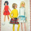 Girls Drop Waist Dress vintage sewing pattern Butterick 5053