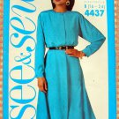 Plus Size Raglan Dress Vintage 80s Pattern Butterick See & Sew 4437