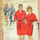 Unisex Bathrobe Vintage 60s Pattern Butterick 3658