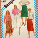 Misses Straight Skirts 1980s Vintage Sewing Pattern Simplicity 6380