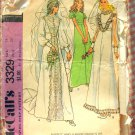 Misses'  Wedding Gown and Bridesmaid Dress 70s Vintage Sewing Pattern McCalls 3329