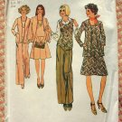 Misses Cardigan, Top, Skirt and Pants 70s Vintage Sewing Pattern Simplicity 6609