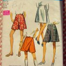 Simplicity 8740 Misses Plus Size Culotte Skirt 70s Vintage Sewing Pattern