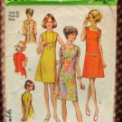 Simplicity 8882 Misses Shift Dress 70s Vintage Sewing Pattern