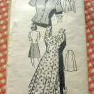 Misses Sundress, Skirt Jacket Vintage 40s Mail Order Pattern Marian Martin 9078