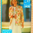 Plus Size Jacket, Top and Skirt Vintage 90s Pattern Butterick See & Sew 5420