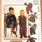 McCall's 9603 Toddler's Brother and Sister Winter Wardrobe Vintage 90s Sewing Pattern