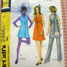 McCall's 2466 Misses Petite Dress, Jumper and Pants Vintage 70s Sewing Pattern