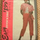 Plus Size Misses Cropped Pants,Shirt 90s Vintage Sewing Pattern McCalls 5917