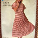 Misses Pullover Dress Vintage 80s Pattern Simplicity 9225