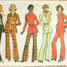 Misses Shirt Jacket and Pants Vintage Sewing Pattern Simplicity 5247