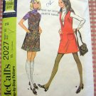 60s Misses A-Line Jumper Vintage Sewing Pattern McCalls 2027