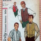 Men's Shirt  and Vest Vintage Sewing Pattern Simplicity 4160