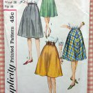 Simplicity 4555 Misses Skirts Vintage 60's Sewing Pattern