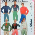 Misses Cossack Shirt 80s Vintage Sewing Pattern McCalls 7760