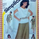 Mix and Match Wardrobe Vintage 80s Simplicity Sewing Pattern 5481 Bust 38""