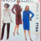 Misses Dress, Tunic, Skirts and Pants Vintage Sewing Pattern McCall's 7754