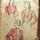 Misses Vintage 40s Bolero Jacket Tops Advance Sewing Pattern 4897