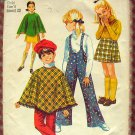 Girl's Poncho, Pants, Skirt Simplicity 8425 Vintage Sewing Pattern