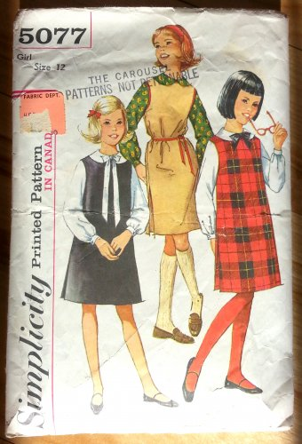 Girl's Blouse and Jumpers Vintage 60s Pattern Simplicity 5077