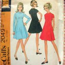 60s A-Line Dress Vintage Sewing Pattern McCall's 2049