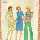 Half Size Dress and Separates Vintage 70s Sewing Pattern Simplicity 7385