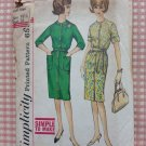 Misses Shirtwaist Dress Vintage 60s Sewing Pattern Simplicity 4559