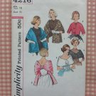 Misses Wrap, Capelet and Jacket Vintage 60s Sewing Pattern Simplicity 4216