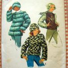Vintage 70s Faux Fur Winter Jacket and Hat Simplicity 6632 Sewing Pattern