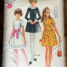 Mod 60s Teen Dress Vintage Sewing Pattern Simplicity 7732