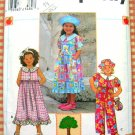 Simplicity 0662 Girl's Jumpsuit Dress, Bag and Hat Vintage 90s Sewing Pattern