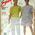 Top, Pants and Shorts Vintage 90s Sewing Pattern McCall's 9329