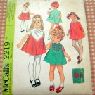 Toddler's Embroidered Dress McCall's 2219 Vintage Sewing Pattern