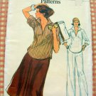 Misses Top, Skirt and Pants Vintage 70s Sewing Pattern Vogue 9710