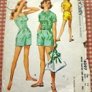 Misses' Romper and Jacket Vintage 50s Sewing Pattern McCall's 4097