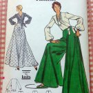 Misses Skirt, Wrap Blouse and Palazzo Pants Vintage 70s Sewing Pattern Vogue 8433