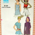 Misses Crop Top, Hoodie, Tank and Shirt Vintage 70s Sewing Pattern Vogue 8047