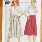 Misses Gathered Skirt Vintage 80s Pattern Butterick 4988