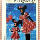 Disney Minnie Mouse Costume Sewing Pattern Simplicity 7730