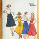 Betsey Johnson Vintage 70s Sewing Pattern Wrap Dress and Skirt Butterick 4681
