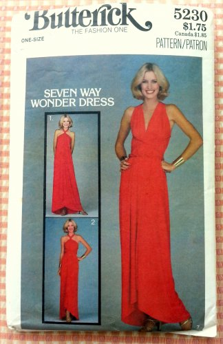 Misses Wonder Wrap Dress Butterick 5230 Vintage Sewing Pattern