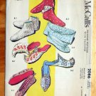 Vintage 50s Arabian Nights Style Ladies and Girls Slippers and Clutch McCall's 2086 Sewing Pattern