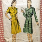 Women's 1940s WW II Era Dress Vintage Sewing Pattern DuBarry 6142