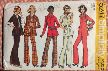 Misses Shirt Jacket and Pants Vintage Sewing Pattern Simplicity 5247 Size 14