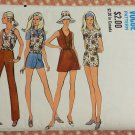 Misses Mini Dress, Shorts and Separates Vintage 70s Sewing Pattern Vogue 7835