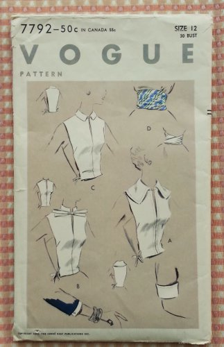Misses Accessories Vintage 50s Sewing Pattern Vogue 7792