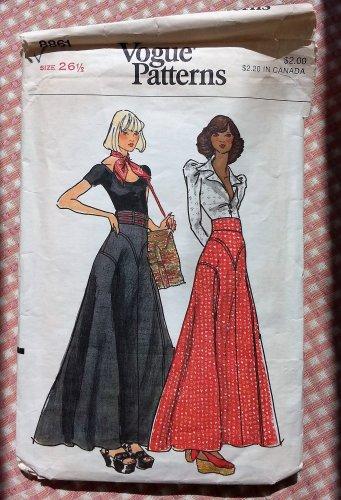 Misses Skirts Vintage 70s Sewing Pattern Vogue 8861
