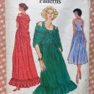 Misses Summer Dress and Shawl Vintage 70s Sewing Pattern Vogue 9467