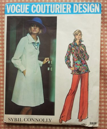 Vintage 70s Sybil Connolly Dress and Pants Vogue sewing pattern 2828