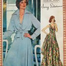 Vintage 70s Jerry Silverman Evening Dress and Jacket Vogue sewing pattern 1117